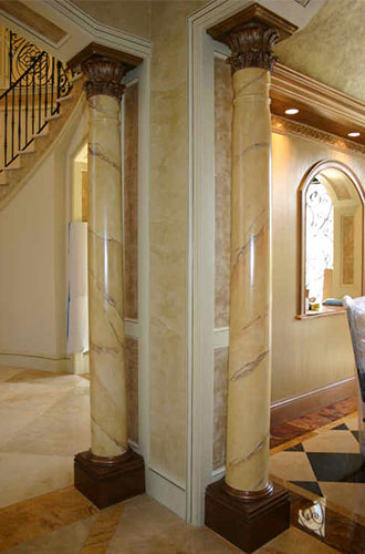 Faux Pillars And Columns : Faux marble decorative finishes south florida artist