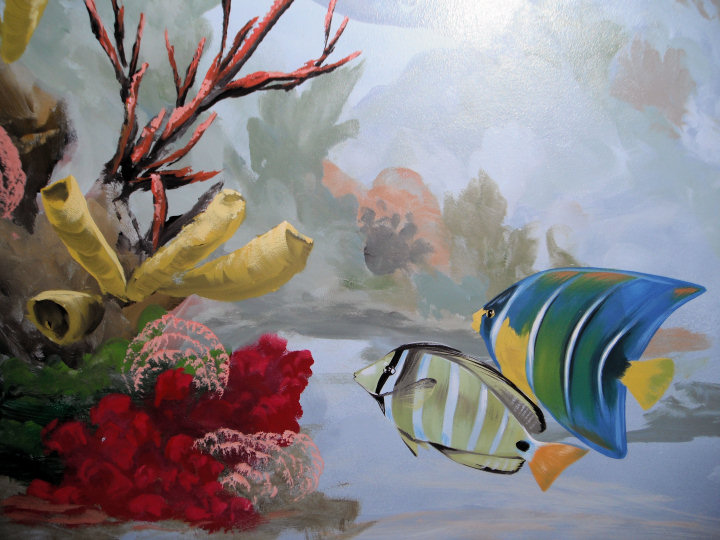 Underwater murals south florida artist for Underwater mural ideas