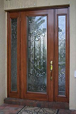 Front Entry Wood Grained door