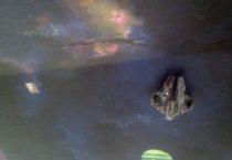 Glow in the dark ceiling mural