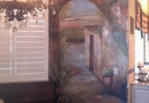 Tuscan dining room mural