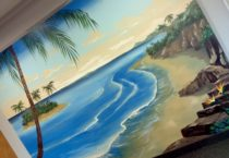 Tropical Seascape mural