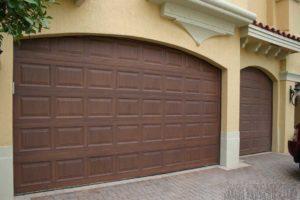 grained garage doors